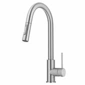 KRAUS Oletto Pull-Down Single Handle Kitchen Faucet in Stainless Steel, 4-1/8'' W x 10-3/4'' D x 16-1/4'' H