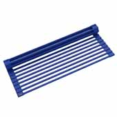 #KRS-KRM-10DB Multipurpose Over-Sink Roll-Up Dish Drying Rack in Dark Blue, 20-1/2'' W x 12-11/16'' D x 1/4'' H