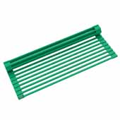 #KRS-KRM-10GR Multipurpose Over-Sink Roll-Up Dish Drying Rack in Green, 20-1/2'' W x 12-11/16'' D x 1/4'' H