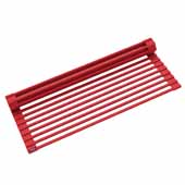 #KRS-KRM-10RD Multipurpose Over-Sink Roll-Up Dish Drying Rack in Red, 20-1/2'' W x 12-11/16'' D x 1/4'' H