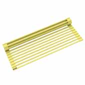 #KRS-KRM-10YL Multipurpose Over-Sink Roll-Up Dish Drying Rack in Yellow, 20-1/2'' W x 12-11/16'' D x 1/4'' H