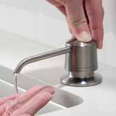 Spot Free Kitchen Soap and Lotion Dispenser in all-Brite™ Stainless Steel, 3-5/8''W x 4-9/16''D x 12-1/8''H
