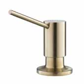 KRAUS Kitchen Soap and Lotion Dispenser in Brushed Brass, Pump Height: 2-3/4'' H, Spout Reach: 3-1/2'' D, Spout Height: 3-1/4'' H