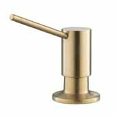 Kitchen Soap Dispenser In Brushed Gold, Spout Reach: 3-1/2'' D, Pump Height: 3-1/4''H