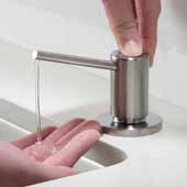 Spot Free Kitchen Soap and Lotion Dispenser in all-Brite™ Stainless Steel, 3-1/4''W x 4-1/4''D x 12-7/8''H