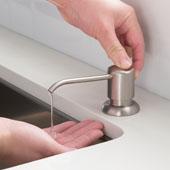 KRAUS Boden™ Kitchen Soap Dispenser in Spot Free Stainless Steel, 17oz Refillable Bottle, Height: 12-5/16'' H