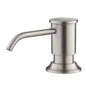 Kitchen Soap Dispenser In Spot Free Stainless Steel, Spout Reach: 3-5/8'' D, Pump Height: 3''H