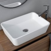Natura™ Rectangle Vessel Composite Bathroom Sink with Matte Finish and Nano Coating in White, 19-11/16'' W x 13-3/4'' D x 4-7/8'' H