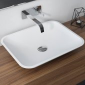 Natura™ Rectangle Vessel Composite Bathroom Sink with Matte Finish and Nano Coating in White, 19-5/8'' W x 15-11/16'' D x 3-5/8'' H