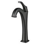 KRAUS Arlo™ Matte Black Single Handle Vessel Bathroom Faucet with Pop Up Drain (2-Pack)