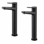 KRAUS Indy™ Single Handle Vessel Bathroom Faucet in Matte Black (2-Pack)