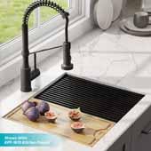 Kore™ Workstation 23'' Undermount 16 Gauge Single Bowl Stainless Steel Kitchen Sink with Accessories, 23''W x 19''D x 10''H
