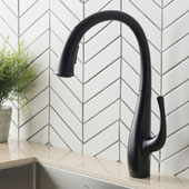 Ansel™ Matte Black Finish Dual Function Pull-Down Kitchen Faucet
