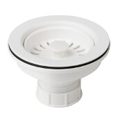 Kitchen Sink Strainer in White
