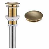 Pop-Up Drain for Bathroom Sink, Brushed Gold