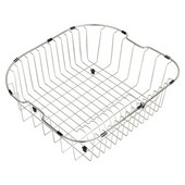 Stainless Steel Rinse basket for Kitchen Sink, 20'' W x 18'' D x 7'' H, Stainless Steel