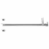 Knape & Vogt 18'' Center Mounted, 50 lb Nylon Roller Drawer Slide, 3/4 Extension, Zinc Finish, Available in Other Sizes