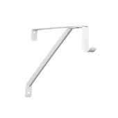 12'' Regular Duty Adjustable Rod and Shelf Bracket, White