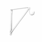 12'' Regular Duty Fixed Rod and Shelf Bracket, White