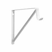 12'' Heavy Duty Fixed Rod and Shelf Bracket, White
