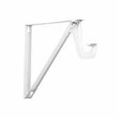 12'' Heavy Duty Fixed Rod and Shelf Brackets, White