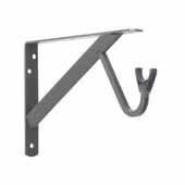 12'' Heavy Duty Fixed Rod and Shelf Brackets, Bronze