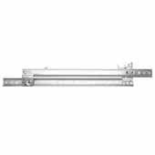 Knape & Vogt Side Mounted, 60 lb Roller Bearing Drawer Slides, 3/4 Extension, 12''-22''  Long in Zinc Finish