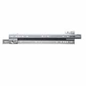 Knape & Vogt Side Mounted 75 lb Roller Bearing Drawer Slides, 3/4 Extension, 14''-26'' Long in Almond and Zinc Finishes