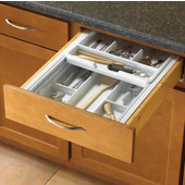 Double Tiered Kitchen Cutlery Drawer Insert, 18-1/4'' to 20-3/4'' W