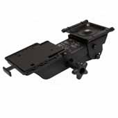 Knape & Vogt Fully Articulated Plastic Glide Keyboard Arms, Black, 17'' Track