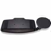 HDEP Keyboard Tray With Height Adjustable Swivel Mouse Tray, Black, 20.7''W x 11''D