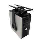Knape & Vogt CPU Holder with Swivel, Non-Lockable, Black