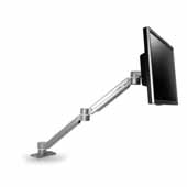 Single Screen, Double Extension with One Height Adjustable Segment, Black