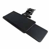 Knape & Vogt Ovation Arm and Keyboard Tray with Slide Through Mousing Surface, Black Finish, 17 Track Length