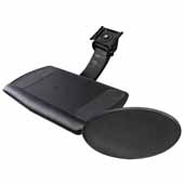 Knape & Vogt Sit-Stand Momentum Arm with Keyboard Tray With Swivel And Tilt Mousing Surface, Black, 21-4/5 Long Track