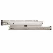 Knape & Vogt 1-1/2'' Over-Travel, Side Mount 175 lb Ball Bearing File Drawer Slide (Pair), 16''-20'' Long, Anochrome Finish