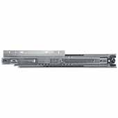 Knape & Vogt 1'' Over-Travel Side Mounted 200 lb Ball Bearing Drawer Slide (Pair), 14''-28'' Long, Zinc Finish