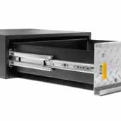 Knape & Vogt 12''-60'' Lock-in/Lock-out, Extra Heavy Duty Side Mounted 100-500 lb Ball Bearing Drawer Slide, Zinc Finish