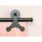 Knape & Vogt Sliding Door Hardware Atlantis Short Bracket Aluminum Round Track Component Kit in Black, Oil Rubbed Bronze and Satin Nickel Finishes