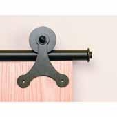 Knape & Vogt Sliding Door Hardware Atlantis Short Bracket Aluminum Round Track Component Kit in Black, Oil Rubbed Bronze and Satin Nickel Finishes