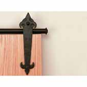 Knape & Vogt Sliding Door Hardware Barcelona Short Bracket Aluminum Round Track Component Kitin Black and Oil Rubbed Bronze Finishes