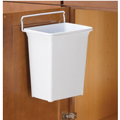 Door-Mount Single Kitchen or Vanity Waste Bins - 9 Quart (2.25 Gallon), Min. Cabinet Opening: 12'' Wide, Min Cab Opening: 12'' W x 7-1/2'' D x 12-1/8'' H