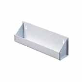 Knape & Vogt Steel Sink Front Tray Organizer, No Tab Stops, White, 13-1/16''W x 2''D x 3''D