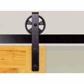 Knape & Vogt 5'' Side Mount Hook Carriers, Flat Rail Sliding Door Hardware Kit, Black