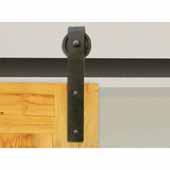 Knape & Vogt 3'' Side Mount Hook Carriers, Flat Rail Sliding Door Hardware Kit, Black