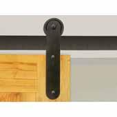 Knape & Vogt 3'' Side Mount Strap Carriers, Flat Rail Sliding Door Hardware Kit, Black