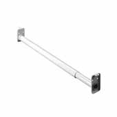 30-48'' Adjustable Closet Rods, White