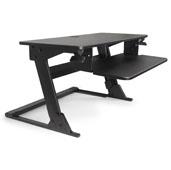 Knape & Vogt Volante Desktop Sit-To-Stand Adjustable Workstation in Black, 35-3/8'' W x 23-3/16'' D x 20'' H