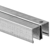 Knape & Vogt 144'' Length Upper Channel Guide for Sliding Glass Door, 144'' Length x 15/16'' D x 5/8'' H