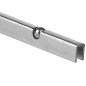 Knape & Vogt 144'' Length Ball Bearing Carrier for Sliding Glass Door, 144'' Length x 3/8'' D x 17/32'' H